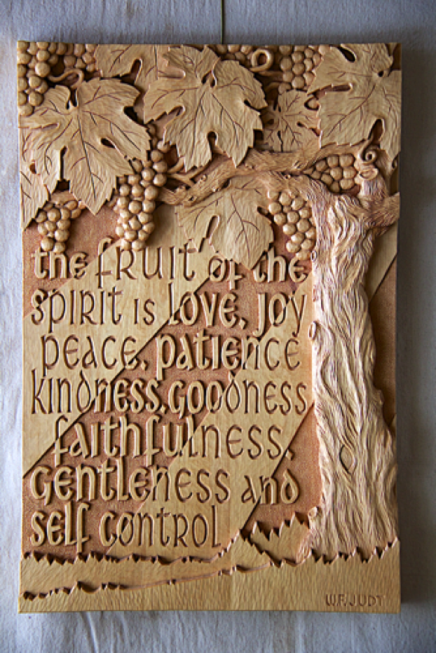 "Fruit of the Spirit, White Birch - $3400 US 17"" x 25"""